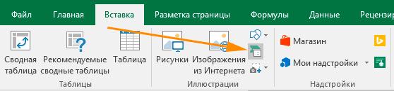 Вставка Объекта SmartArt в Excel