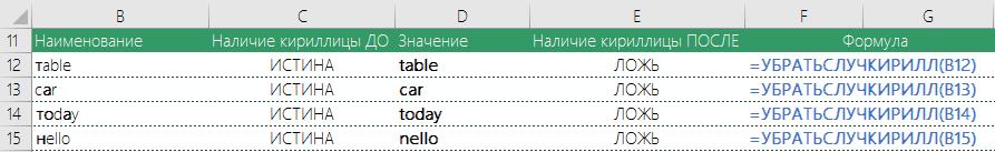 Пример замены русских букв на английские